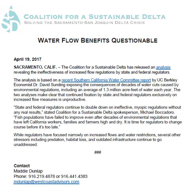 Flow Benefits Questionable PR